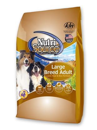 NUTRISOURCE LARGE BREED LAMB RICE 30#